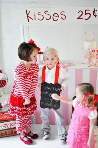 Valentine's party kissing booth via Kara's Party Ideas karaspartyideas.com-41