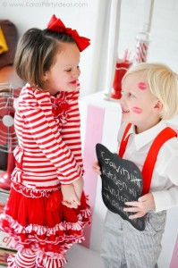 Valentine's party kissing booth via Kara's Party Ideas karaspartyideas.com-51