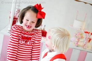 Valentine's party kissing booth via Kara's Party Ideas karaspartyideas.com-59