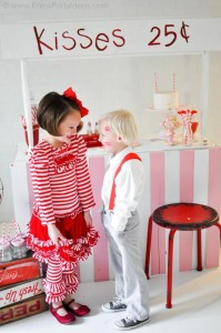 Valentine's party kissing booth via Kara's Party Ideas karaspartyideas.com-63