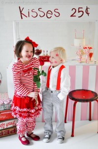 Valentine's party kissing booth via Kara's Party Ideas karaspartyideas.com-72