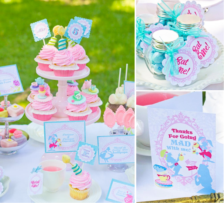 Kara\'s Party Ideas Alice in Wonderland Mad Hatter Garden Tea Party ...