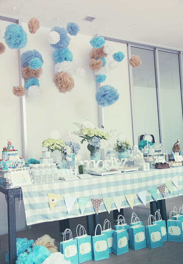 Kara 39 s party ideas peter rabbit themed 1st birthday party for Baby first birthday decoration ideas