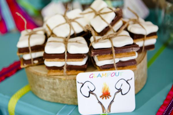 Karas Party Ideas Glampout Girl Camping Glamping Birthday Party