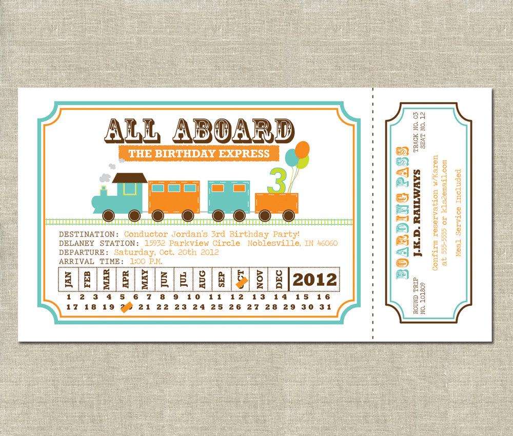 vintage train ticket template