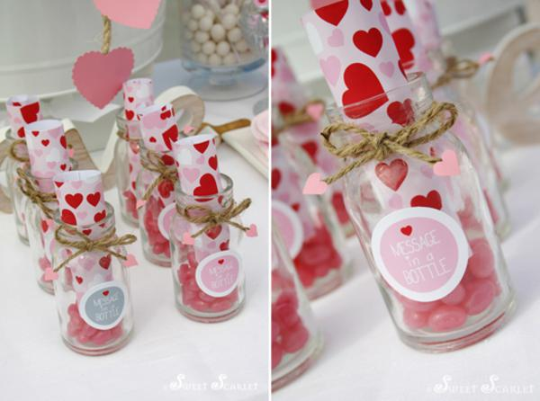 kara's party ideas message in a bottle nautical valentine's day, Ideas