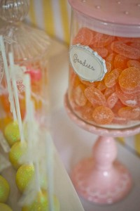 Vintage Candy + Sweet Shoppe Birthday Party via Kara's Party Ideas karaspartyideas.com sweet shop party supplies shop online cake decorations stand (39)