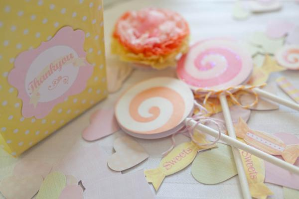Vintage Candy + Sweet Shoppe Birthday Party via Kara's Party Ideas karaspartyideas.com sweet shop party supplies shop online cake decorations stand (38)