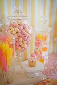 Vintage Candy + Sweet Shoppe Birthday Party via Kara's Party Ideas karaspartyideas.com sweet shop party supplies shop online cake decorations stand (28)