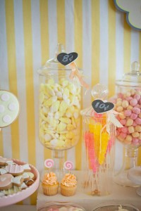Vintage Candy + Sweet Shoppe Birthday Party via Kara's Party Ideas karaspartyideas.com sweet shop party supplies shop online cake decorations stand (26)