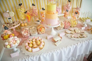 Vintage Candy + Sweet Shoppe Birthday Party via Kara's Party Ideas karaspartyideas.com sweet shop party supplies shop online cake decorations stand (19)