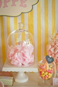 Vintage Candy + Sweet Shoppe Birthday Party via Kara's Party Ideas karaspartyideas.com sweet shop party supplies shop online cake decorations stand (18)