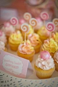 Vintage Candy + Sweet Shoppe Birthday Party via Kara's Party Ideas karaspartyideas.com sweet shop party supplies shop online cake decorations stand (12)