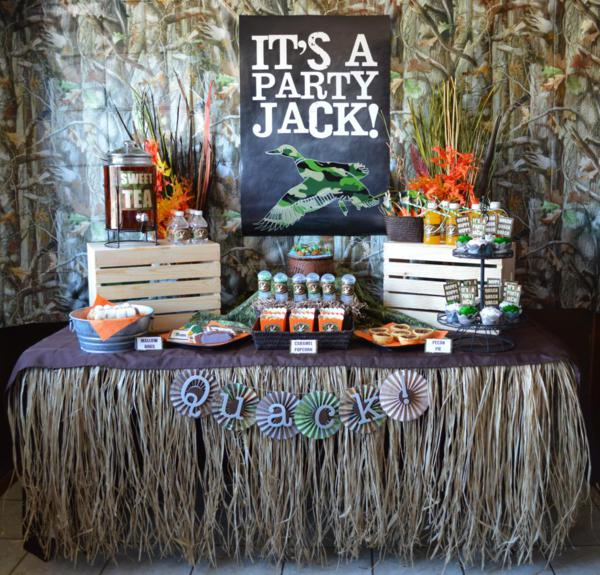 Karas party ideas duck dynasty camoflauge hunting boy themed party this is what feather said about planning the party i am a huge fan of the show duck dynasty and wanted to put together a duck themed set up to celebrate filmwisefo