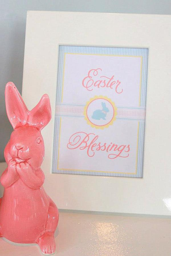 Seersucker & Bow Tie Easter Party or baby shower idea via Kara's Party Ideas karaspartyideas.com Bunny Birthday First Easter Party Supplies (22)