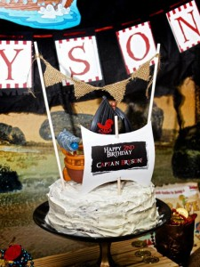 Jake and the neverland pirates themed birthday party via Kara's Party Ideas karaspartyideas.com #jake #neverland #pirates #cake #party #idea (24)