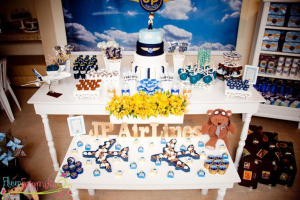 Party Ideas Airplane Airline Pilot Themed Boy 1st Birthday Party ...