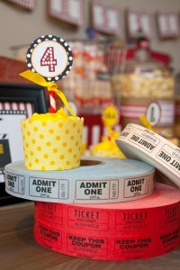 Vintage Movie Themed Birthday Party via Kara's Party Ideas KarasPartyIdeas.com #vintage #movie #party #birthday #planning #ideas #cake #decorations #favors #idea #supplies (29)