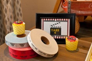 Vintage Movie Themed Birthday Party via Kara's Party Ideas KarasPartyIdeas.com #vintage #movie #party #birthday #planning #ideas #cake #decorations #favors #idea #supplies (27)