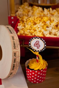 Vintage Movie Themed Birthday Party via Kara's Party Ideas KarasPartyIdeas.com #vintage #movie #party #birthday #planning #ideas #cake #decorations #favors #idea #supplies (25)