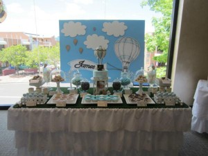 Hot Air Balloon Christening or birthday party via Kara's Party Ideas karaspartyideas.com #hot #air #balloon #christening #party #birthday #ideas #decor #cake (39)