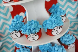 Thing One & Thing Two Dr Seuss Themed Birthday Party for twins via Kara's Party Ideas karaspartyideas.com supplies cake decorations gender neutral decor tips activities games books birthday (54)