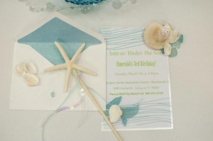 Under the Sea Mermaid 3rd Birthday Party via Kara's Party Ideas KarasPartyIdeas.com #mermaid #under #sea #birthday #party #cake #decorations #idea #supplies (24)