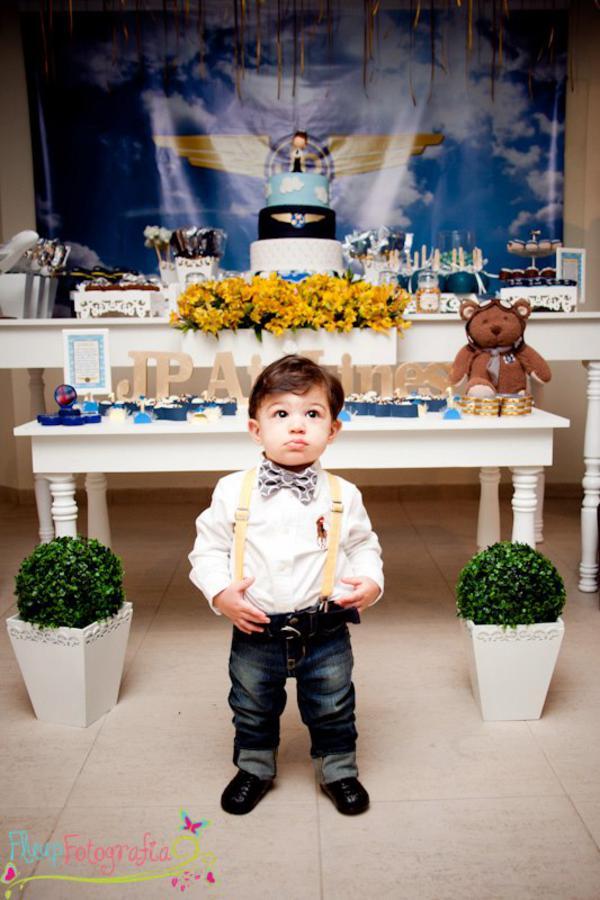 Karas Party Ideas Airplane Airline Pilot Themed Boy 1st Birthday
