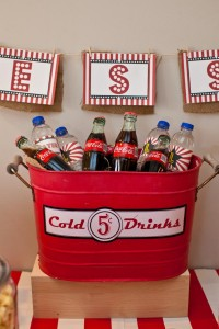 Vintage Movie Themed Birthday Party via Kara's Party Ideas KarasPartyIdeas.com #vintage #movie #party #birthday #planning #ideas #cake #decorations #favors #idea #supplies (17)
