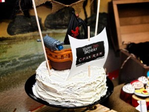 Jake and the neverland pirates themed birthday party via Kara's Party Ideas karaspartyideas.com #jake #neverland #pirates #cake #party #idea (23)