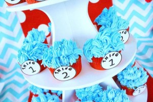 Thing One & Thing Two Dr Seuss Themed Birthday Party for twins via Kara's Party Ideas karaspartyideas.com supplies cake decorations gender neutral decor tips activities games books birthday (51)