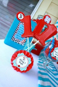 Thing One & Thing Two Dr Seuss Themed Birthday Party for twins via Kara's Party Ideas karaspartyideas.com supplies cake decorations gender neutral decor tips activities games books birthday (50)