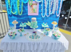 Little Mermaid Under the Sea themed birthday party via Kara's Party Ideas karaspartyideas.com #ariel #mermaid #themed #birthday #party #ideas #cake #decor #supplies (47)