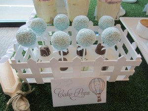 Hot Air Balloon Christening or birthday party via Kara's Party Ideas karaspartyideas.com #hot #air #balloon #christening #party #birthday #ideas #decor #cake (36)