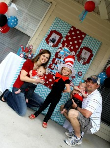 Thing One & Thing Two Dr Seuss Themed Birthday Party for twins via Kara's Party Ideas karaspartyideas.com supplies cake decorations gender neutral decor tips activities games books birthday (49)