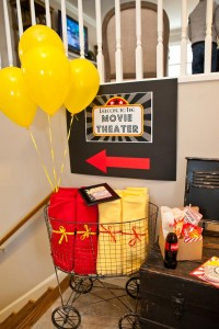 Vintage Movie Themed Birthday Party via Kara's Party Ideas KarasPartyIdeas.com #vintage #movie #party #birthday #planning #ideas #cake #decorations #favors #idea #supplies (11)