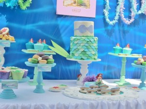 Little Mermaid Under the Sea themed birthday party via Kara's Party Ideas karaspartyideas.com #ariel #mermaid #themed #birthday #party #ideas #cake #decor #supplies (46)