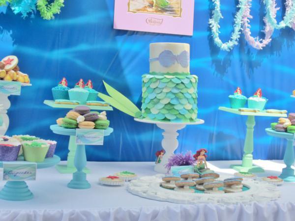 Kara 39 s party ideas disney princess ariel ocean under the for Ariel party decoration ideas