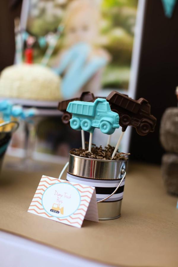 Kara S Party Ideas Construction Truck Themed 1st Birthday