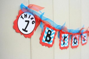Thing One & Thing Two Dr Seuss Themed Birthday Party for twins via Kara's Party Ideas karaspartyideas.com supplies cake decorations gender neutral decor tips activities games books birthday (47)