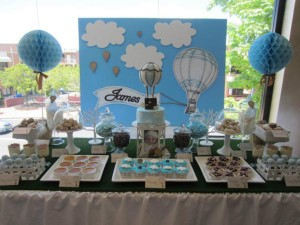 Hot Air Balloon Christening or birthday party via Kara's Party Ideas karaspartyideas.com #hot #air #balloon #christening #party #birthday #ideas #decor #cake (50)