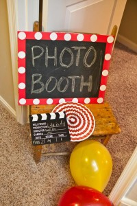 Vintage Movie Themed Birthday Party via Kara's Party Ideas KarasPartyIdeas.com #vintage #movie #party #birthday #planning #ideas #cake #decorations #favors #idea #supplies (9)