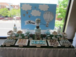 Hot Air Balloon Christening or birthday party via Kara's Party Ideas karaspartyideas.com #hot #air #balloon #christening #party #birthday #ideas #decor #cake (30)