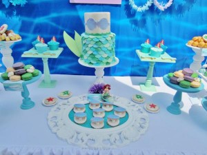 Little Mermaid Under the Sea themed birthday party via Kara's Party Ideas karaspartyideas.com #ariel #mermaid #themed #birthday #party #ideas #cake #decor #supplies (34)