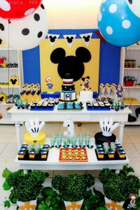 Mickey Mouse Musketeer + Mouseketeer themed birthday party via Kara's Party Ideas Mickey Mouse Party Supplies Shop (31)