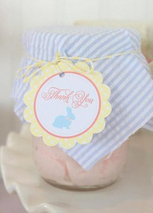 Seersucker & Bow Tie Easter Party or baby shower idea via Kara's Party Ideas karaspartyideas.com Bunny Birthday First Easter Party Supplies (15)