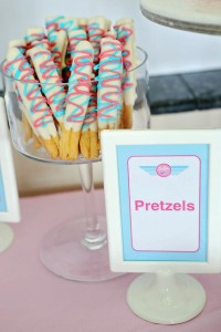 Girly Airplane Airline themed birthday party via Kara's Party Ideas karaspartyideas.com #airline #airplane #plane #party #idea #cake #girly #girl supplies decorations (14)
