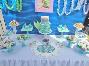 Little Mermaid Under the Sea themed birthday party via Kara's Party Ideas karaspartyideas.com #ariel #mermaid #themed #birthday #party #ideas #cake #decor #supplies (30)
