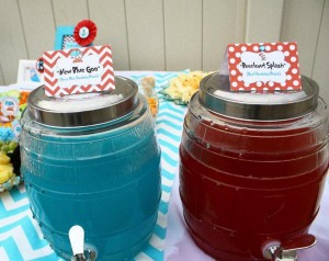 Thing One & Thing Two Dr Seuss Themed Birthday Party for twins via Kara's Party Ideas karaspartyideas.com supplies cake decorations gender neutral decor tips activities games books birthday (39)