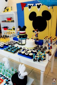 Mickey Mouse Musketeer + Mouseketeer themed birthday party via Kara's Party Ideas Mickey Mouse Party Supplies Shop (29)